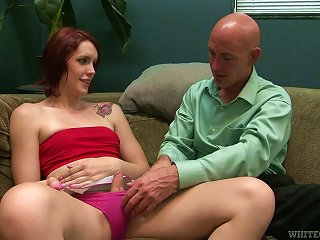 Skinny And Nasty Redhead Shemale Is Getting Balled
