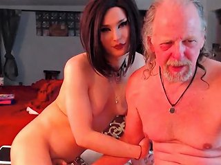 Very Beautiful Transsexual Brunette Fucks Her Tranny