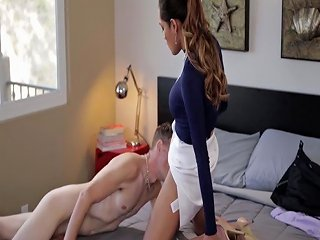 Sexy Shemale Dominates Her Guy By Ass Fucking Him Hard